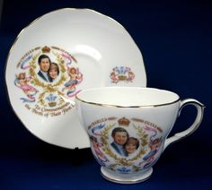 Birth Of Prince William Charles Diana Cup And Saucer 1982 Bone China