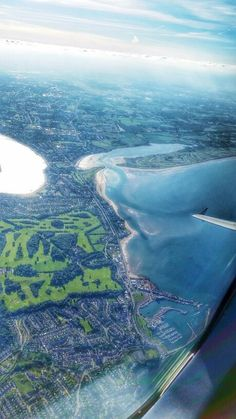 Bird's-eye view over Howth, Ireland.