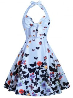 GET $50 NOW | Join RoseGal: Get YOUR $50 NOW!http://www.rosegal.com/vintage-dresses/halter-a-line-butterfly-print-1133398.html?seid=8592445rg1133398