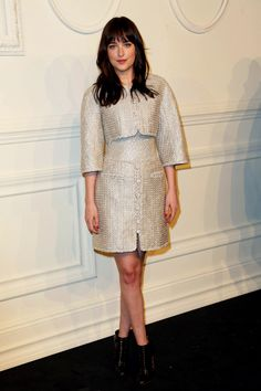 Fifty Shades Of Grey Dakota Johnson at Chanel's Metiers d'Art Collection in NYC