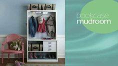 Video: DIY Mudroom using bookcase!