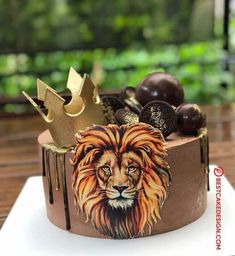 50 Most Beautiful looking Lion Cake Design that you can make or get it made on the coming birthday. Money Birthday Cake, Candy Theme Birthday Party, 25th Birthday Cakes, Birthday Cake For Husband, Birthday Cakes For Women, Cakes For Men, Birthday Cake For Boyfriend, Boyfriend Cake, Lion Cakes