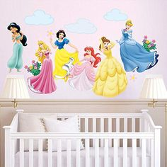 decalmile Princess Wall Stickers Murals Removable Vinyl Girls Room Wall Decals Nursery Baby Bedroom Wall Decor Different Theme Princess) Wall Stickers Unicorn, Wall Stickers Murals, Nursery Wall Decals, Room Stickers, Baby Room Themes, Nursery Themes, Baby Rooms, Baby Bedroom, Bedroom Wall