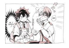 Deku X Todoroki, My Hero Academia Shouto, Anime Love, Anime Couples, Kitty, Manga, Comics, Twitter, Fall