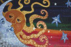 Celestial Cross Stitch Kit  @Kimberley Hill #needlepoint #crafts #celestial