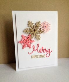 Colorful snowflakes card
