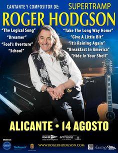 Roger Hodgson (Supertramp) tocará el 14 de Agosto en la Plaza de Toros de Alicante