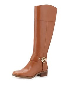 Fulton Harness Leather Riding Boot, Luggage by MICHAEL Michael Kors at Neiman Marcus.