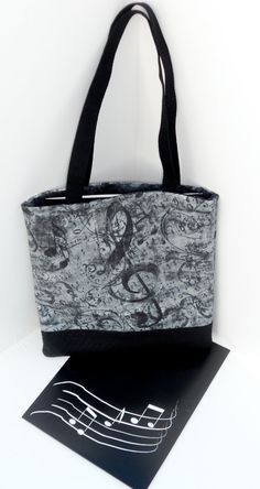 Treble Clef Musician's Tote Bag by themusicshop on Etsy
