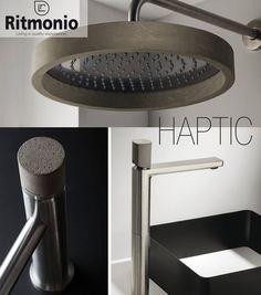 Cersaie 2016/ Novedades Griferia baño : Cuando la griferia de baño se viste con cemento. De lineas elegantes y modernas #Haptic es una de las novedades de la marca https://www.facebook.com/pages/Rubinetterie-Ritmonio/162665983759073  #griferiadebaño #badebaño