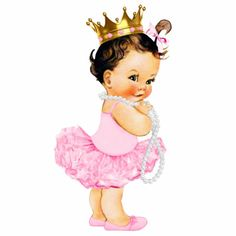 Shop Ballerina Tutu Princess Baby Girl Shower Statuette created by The_Vintage_Boutique. Baby Girl Princess, Baby Shower Princess, Baby Shower Invites For Girl, Girl Shower, Little Princess, Pink Princess, Disney Princess, Pearl Baby Shower, Cowboy Baby Shower