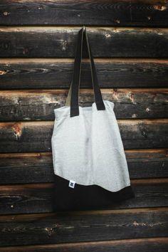 black 'n gray Black And Grey, Gray, Old Clothes, Tote Bag, Fabric, Bags, Fashion, Ash, Tejido