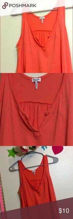 Splendid v neck loose fit tank - coral orange Size small - splendid brand - comfy, loose fit Splendid Tops Tank Tops
