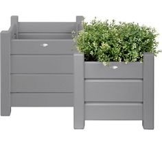 Buy Fallen Fruits Grey Square Planters - Set of 2 at Argos.co.uk - Your Online Shop for Planters, Garden pots and containers, Garden decoration and landscaping, Home and garden.