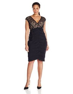 $84 T6 T10 T12 y T 12P Negro    Adrianna Papell Women's Plus-Size Sleeveless Lace and Georgette Flutter Dress, Black, 20 Adrianna Papell http://www.amazon.com/dp/B00NES7X3M/ref=cm_sw_r_pi_dp_C0e9vb14W39QT: