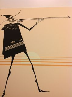 Western Skinny Animation Art $20 by ZNGallery on Etsy