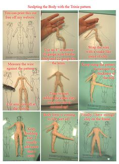Old tutorial hand-outs. Papier mache figure by MadunTwoSwords on DeviantArt – Marilyse Chaussée Old tutorial hand-outs. Papier mache figure by MadunTwoSwords on DeviantArt Old tutorial hand-outs. Papier mache figure by MadunTwoSwords on DeviantArt Clay Projects, Clay Crafts, Diy Clay, Polymer Clay Dolls, Polymer Clay People, Polymer Clay Figures, Paperclay, Doll Tutorial, Cake Decorating Tutorials