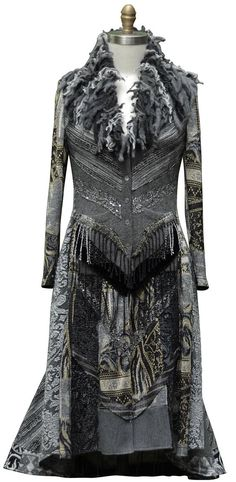 Kasjmier lange trui jas fantasie boho wearable art kleding