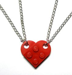 LEGO Heart Necklaces, $10 | 24 Matching Jewelry Pieces For You And The One You Love