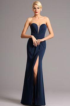 eDressit Robe de Soirée Sans Bretelle Fente à Côté Bleu Noir #edressit #robe #nouveauté #soirée #bijoux #dentelle #printemps #remise #solde #femme #mode #branché #sexy #élégant #cadeau #rendez-vous #formel #broderie
