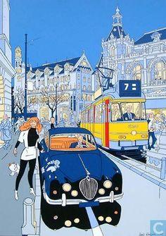 Ex-Libris BD et tirages - Tiré à part - franka -Amsterdam Jaguar