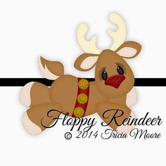 {FREE Cut File}   Floppy Reindeer Cutting...there is also a Digital Kit to download too!!!  Available to download for free from July 21-July 27