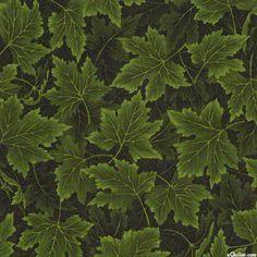Nature's Tonal - Maple Leaf Drift - Leaf Green