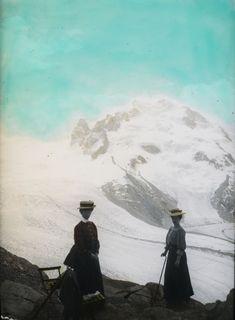 Monte Rosa, Nordend, Dufourspitze, Blick nach Südosten (SE) Mountains, Nature, Travel, Painting, Art, Pink, Art Background, Naturaleza, Viajes