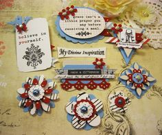Teresa Collins Stationary Notes Handmade Paper Embellishments and Paper Flowers for Scrapbook Layouts Cards Mini Albums and Paper Crafts by mydivineinspiration on Etsy https://www.etsy.com/listing/264551524/teresa-collins-stationary-notes-handmade