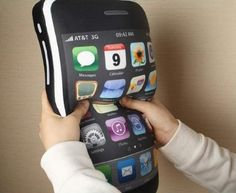 """Lujex (TM) iPhone 4 Style Shaped Pillow Cushion iPhone Plush Toy 16"""""""