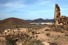 Ruins in Lanzarote hills - free stock photo