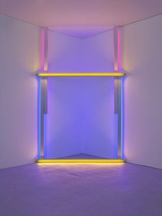 Dan Flavin  untitled (to Barnett Newman to commemorate his simple problem,   red, yellow, and blue), 1970  yellow, blue, and red fluorescent light