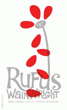Rufus Wainwright music gig posters | ... Music Posters - Memorabilia, Concert Poster, Silkscreen, Poster Art
