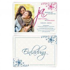 """#Hochzeitseinladungen - das """"Ja!"""" Wort. Mit eigenem Bild und Text. Auf http://www.kartenmachen.de/shop/einladungskarten-zur-hochzeit/hochzeitskarten-ja.html"""