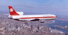 Air Canada Lockheed L-1011-385-1 TriStar 1 C-FTNA in flight over Montreal, 1973. (Photo: Courtesy of Jorge Carmo)
