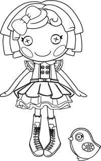 lalaloopsy dolls colouring pages - Lalaloopsy Coloring Pages