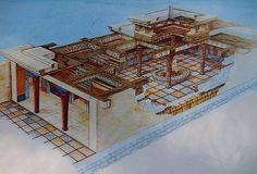 Mycenae: The Palace. Artist's concept.