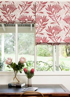 How stunning are these blinds made from Ink & Spindle fabric