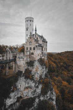 Lichtenstein Castle in Fall Colors by Dominik Pflumm / 500px