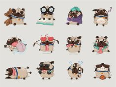 Dog Character in Various Poses #dog #character ★ Find more at http://www.pinterest.com/competing/: