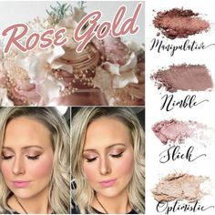 Follow me on Facebook at Rachele's Younique Beauty Bar to see a live tutorial of the Rose Gold Younique look.
