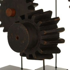 vintage foundry gear pattern | Collection Of Antique Gear Foundry Forms On Stands at 1stdibs