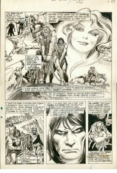Savage Sword of Conan # 5 page 28 Comic Art