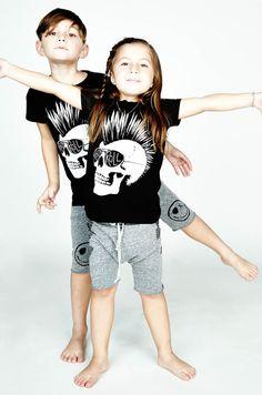 Lauren Moshi Kids  Piglet Med Rocker Skull S/S Basic Tee