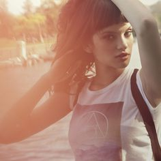 elements tee  i love the white triangle/circle design over a natural landscape