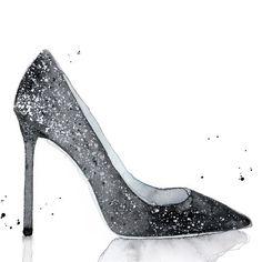 JIMMY CHOO Romy 110 Navy And Silver Coarse Glitter Degradé Pointy Toe Pumps. #jimmychoo #shoes #s