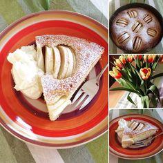 we love veggie: Versunkener Apfelkuchen - einfach & lecker Food Blogs, Vegan, Veggies, Ethnic Recipes, German Apple Cake, Vegetarian Chili, Eat Clean Lunches, Baking, Food Food