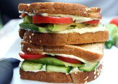 CAT (cucumber, avocado, tomato) Sandwich