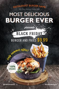 Restaurant Flyer Template Free Burger Day Restaurant Free Flyer Template for Fast Food Menue Design, Food Graphic Design, Food Poster Design, Food Menu Design, Restaurant Advertising, Restaurant Poster, Restaurant Recipes, Fast Food Advertising, Restaurant Restaurant