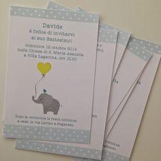 Marta Paper Design: Battesimo di Davide l'elefantino